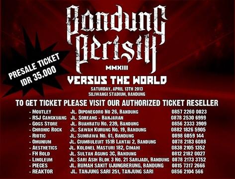 Bandung berisik 2013 - ticket box