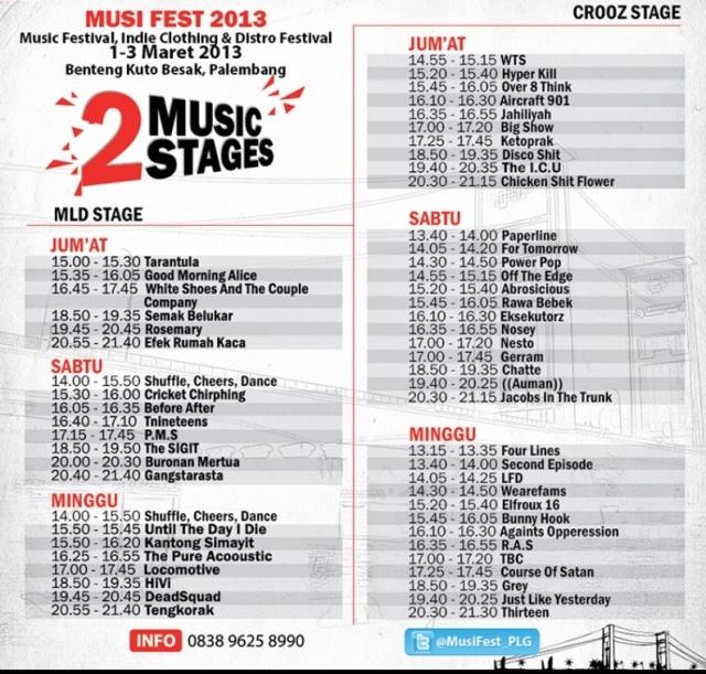 Musi Fest - Rundown